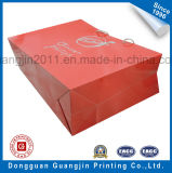 Sacchetto di acquisto del documento di colore rosso di alta qualità con il marchio dorato