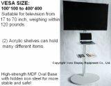 Ausstellung Fernsehapparat-Standplatz mit Acrylregal