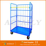 Doors를 가진 수송 Storage Folding Roll Container Trolley