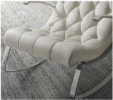 販売(LC015)のための現代シンプルな設計の金属フレームの革張りのいす