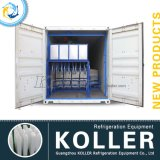 Máquina de gelo Containerized do bloco de Koller 10t com sistema do guindaste