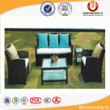 Neues Entwurfs-im Freien Garten-synthetisches rundes Sofa-Weidenmöbel (UL-3013)