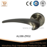 Алюминиевая нутряная деревянная ручка рукоятки двери на розетке (AL086-ZR02)