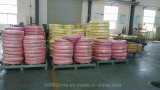 El alambre de acero tejido el manguito hidráulico cubierto caucho reforzado (SAE100 R2-6at)/el manguito de goma