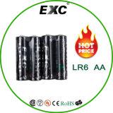 Bateria da bateria alcalina Lr6/AA do pacote 1.5V Lr6/AA do Shrink