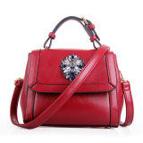 Leer van de Schouder van de Zak van de Manier van de Ontwerper van vrouwen het Bloem Afgedrukte Dame Handbag
