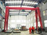 Solo alzamiento de la grúa de pórtico de la viga de China 10 toneladas