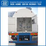 Kälteerzeugende Flüssigkeit-Becken-Behälter-halb Schlussteil-Straßentankfahrzeug