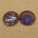 O metal feito sob encomenda esmalta-nos moeda do desafio de Nypd