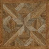 Construction de porcelaine de configuration de parquet de regard et tuile en bois authentiques rustiques de décoration