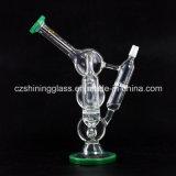 Netter Entwurfs-glänzende Glasrecycler-Ölplattformen für das Rauchen von Czs-222
