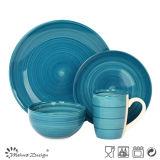 16PCS Couleur Bleu Peint à la main Utilisation quotidienne Dinner Set