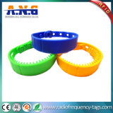 Insignia modificada para requisitos particulares silicón reescribible de los Wristbands de ISO14443A NFC RFID