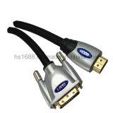 Métal à grande vitesse HDMI de M/M au constructeur de la Chine de câble dvi