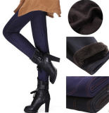 Alta qualidade mais as calças justas grossas das calças de brim da pele morna da forma das mulheres do tamanho (14348)