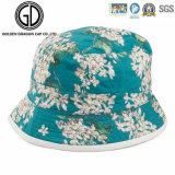 Шлем ведра печати цветка типа рыболовства Twill хлопка OEM изготовленный на заказ
