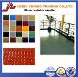 Colorear el césped de goma cubierto PVC Uesd del amortiguador para la oficina