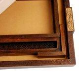 大きな木製のティーコレクションボックス