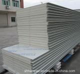 Облегченная стабилизированная стальная панель сандвича PU изоляции для стены