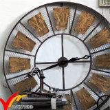 Reloj redondo rústico industrial de la decoración de la pared del metal de Deocritive de la vendimia retra hermosa