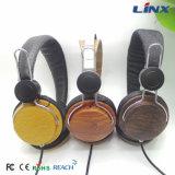 Écouteurs en bois d'ordinateur de câble par qualité pour le téléphone mobile