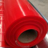 Folha da borracha de silicone da cor vermelha de preço de fábrica, obscuridade - folha do silicone da cor vermelha