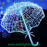 LEDの傘のモチーフライトクリスマスのモチーフライト