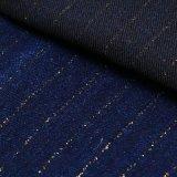 Tissu procurable de denim de coton avec l'amorçage d'or