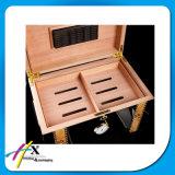 Humidificateur fait sur commande en bois de cigare de laque de fini de piano