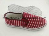 Zapatos ocasionales planos del calzado de los zapatos de lona de la inyección de las últimas mujeres