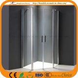 Porte de 2 charnières sans douche en verre de plateau (ADL-8A68)