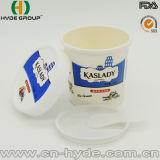 taza de papel del helado de 100ml Dipsosable con la tapa y la cuchara