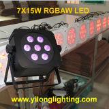 Preiswertes 15W Rgbaw drahtloses DMX Hochzeitsfest-dekoratives Licht