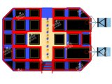 Kaiqi Large Indoor Trampoline Playground con Basketball, Ball Pool, Foam Pit o Dodgeball Arena (TR137A)