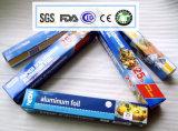 papel de aluminio del hogar de la categoría alimenticia de 8011-O 0.010m m para asar Vegatable