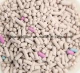 Weiße runde Pfosten-Bentonit-Haustier-Sänfte