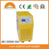 (X9-T20248-50) inverseur solaire pur d'onde sinusoïdale 48V2000W50A avec le contrôleur