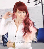 Die direkten Hersteller, die Lattich-lockiges Haar bewegen verkaufen lose, Haar-Perücke wellenartig