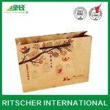 印刷された芸術昇進手のクラフト紙袋