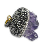 Necklace를 위한 미친 Hot Amethyst Crystal Druzy Gemstone