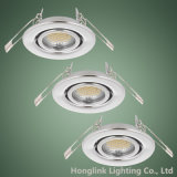 Cromo GU10 230V Adjustable Recessed Downlight Fixture para Whole Sale