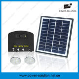 Sonnensystem des Sonnenkollektor-4W mit 2 Licht-Handy-Aufladeeinheit