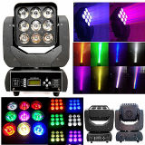 LED 9PCS*10W 4in1の移動ヘッドビームライト