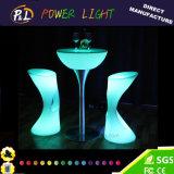 Tableau de cocktail en plastique lumineux par meubles extérieurs de la barre DEL