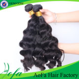 Cabelo ondulado que tece a extensão do cabelo de Remy/cabelo humano brasileiro do Virgin