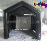 映画スクリーンが付いている黒いカラー空気堅く膨脹可能なテント