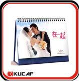 Calendario inglés imprimible del escritorio del calendario mensual del papel