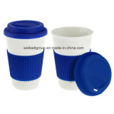 Lid (CPBZ-4005)를 가진 선전용 Ceramic Full Printingtravel Coffee Mug