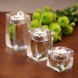 ホーム装飾のための正方形の明確な水晶蝋燭ホールダー及びロウソク