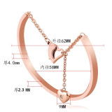 316L Edelstahl Bangle Heart Female Bracelet Fashion Jewelry (hdx1028)